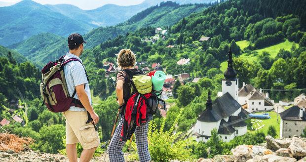 Hornická obec Špania Dolina.