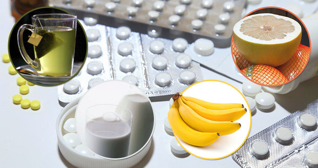 Pozor na banán, mléko i smoothie: Špatná kombinace léků a jídla ohrožuje zdraví