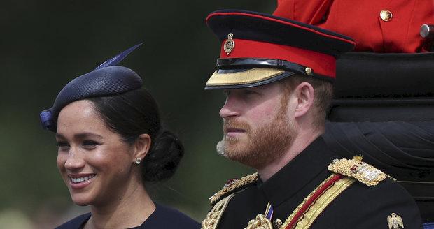 Meghan a Harry na oslavách královny