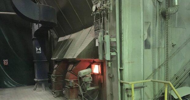 Stará spalovací linka před modernizací.