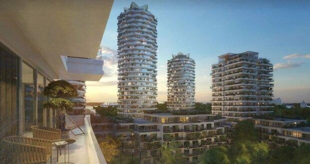 Ústřední telekomunikační budovu mají nahradit zvlněné věže architektky Evy Jiřičné.