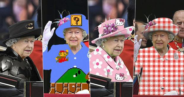 Ta se vybarvila! Královna Alžběta II. se stala terčem internetových vtipálků