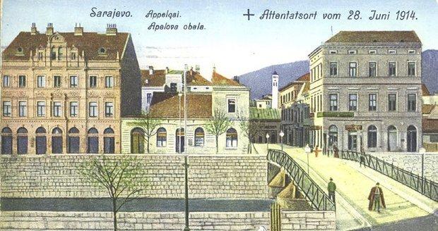 V těchto místech došlo k osudových výstřelům, které pohnuly osudím dějin, zabily Františka Ferdinanda d'Este a Žofii Chotkovou, a navždy změnily ráz 20. století.
