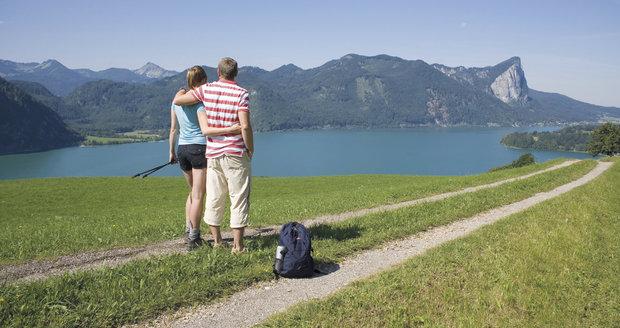 Mondsee: Procházka s výhledem na jezero a Drachenwand