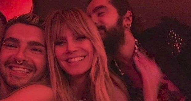 Šťastná topmodelka a moderátorka Heidi Klumová tvoří pár po boku hudebníka Toma Kaulitze