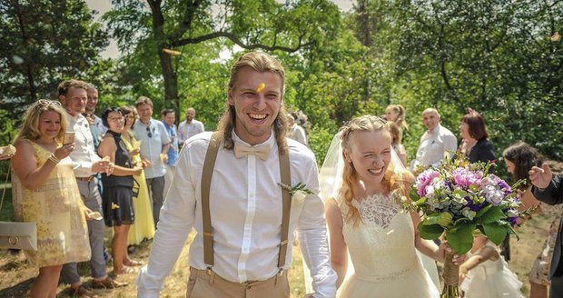 Muzikálový fešák Michal Bragagnolo se oženil.