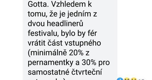 Fanoušci Karla Gotta požadují vrácení vstupného na festival Benátská.