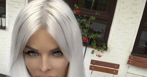 Slovenská modelka Silvia Kucherenko, která je terčem posměchu kvůli svým rtům.