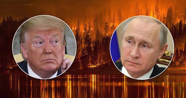Trump volal Putinovi: S požáry vám pomůžeme. Zapojili se i šamani