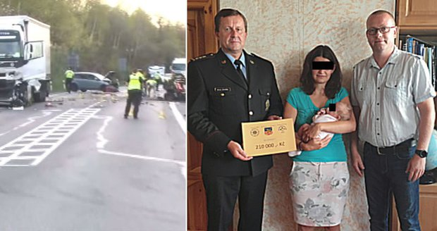 Policista Jan zemřel při nehodě, po smrti se mu narodila holčička! Pro maminku vybrali 200 tisíc
