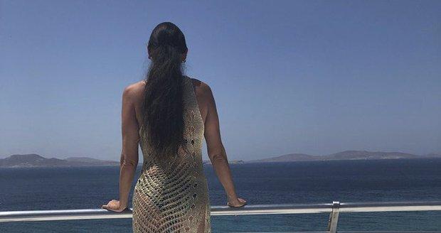 Sisa Sklovská na dovolené na Mykonosu