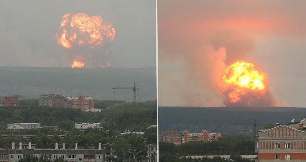 Exploze jak v Černobylu, evakuace i zběsilé úprky. Obří výbuchy vyvolaly paniku v Rusku