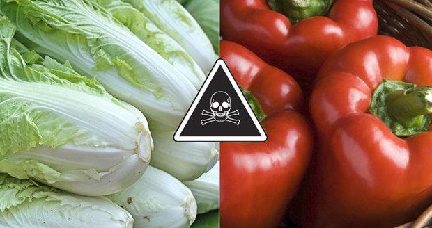 Nejen zamořené ovoce. Jedovatý pesticid najdeme i v zelí nebo paprice, varují experti