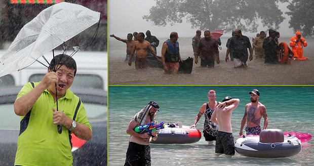 Extrémy v počasí: Tajfun na Tchajwanu a v Číně, záplavy v Indii a tropy v Evropě