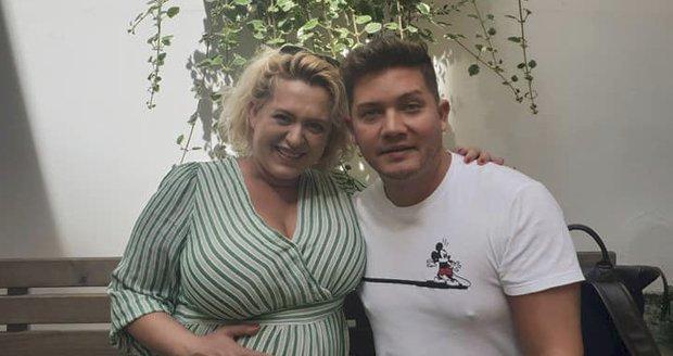 Miluška Bittnerová v 9. měsíci těhotenství