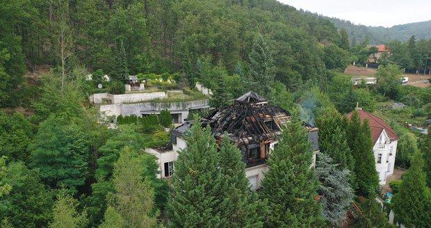 Požár ve vile Radovana Krejčíře, 20. srpna 2019.