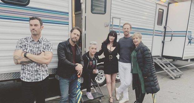 Shannen Doherty sdílí fotky z natáčení Beverly Hills 90210
