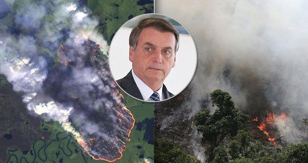 """Plíce planety zachvátil obří požár, prezident podezřívá neziskovky. Macron: """"Hoří náš dům"""""""