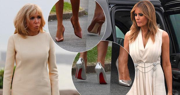První dámy sladily šaty. Trumpová a Macronová oslňovaly vedle manželů elegancí