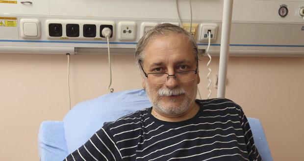 Zdeněk Zelenka v nemocnici