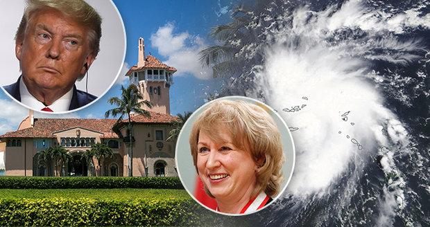 Extrémně nebezpečný hurikán ohrožuje i Trumpův resort. Expremiérka doufá, že jej zasáhne