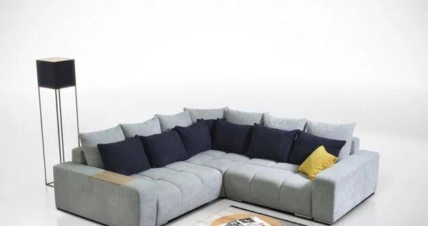 Svěží severský vítr vašemu obýváku dodá šedá sedačka Baltic. JENA NÁBYTEK