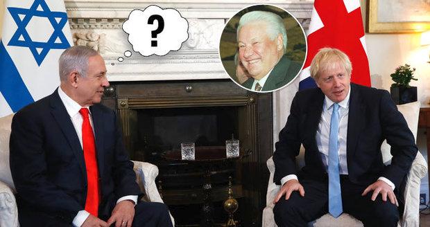 Boris jako Boris. Izraelský premiér si spletl Johnsona s Jelcinem, prý zkoušel pozornost