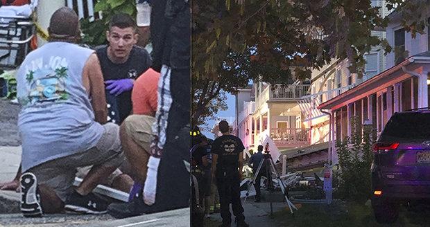 Zřícení balkonů v New Jersey: v troskách zůstali hasiči i děti