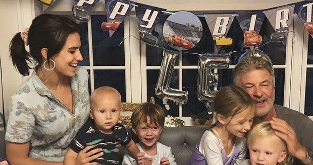 Alec Baldwin se svou velkou rodinou