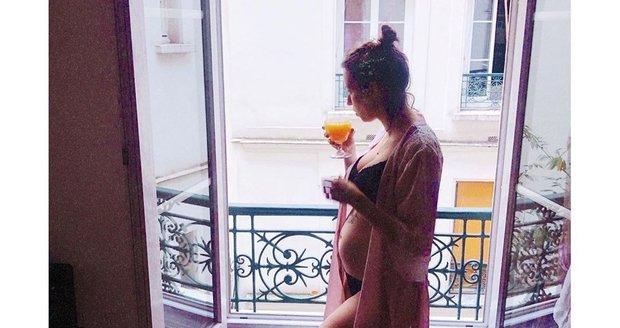 Berenika Kohoutová v těhotenství