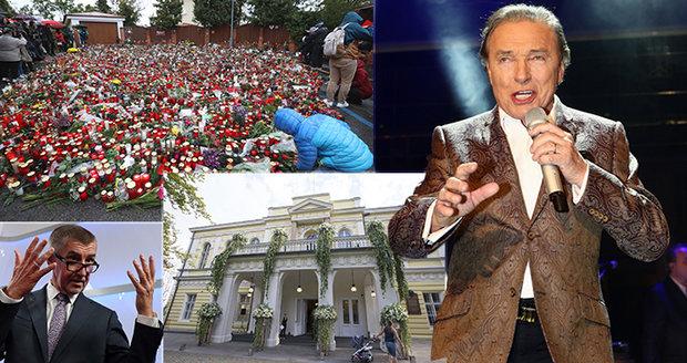 Na rozloučení s Gottem dorazí 300 tisíc lidí, Babiš varuje před cestou na Žofín
