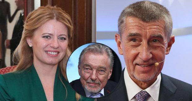 Slováci se kvůli Gottovi stydí za Čaputovou, Češi si dobírají Babiše za odhad