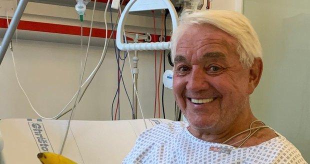 Jiří Krampol je stále v nemocnici