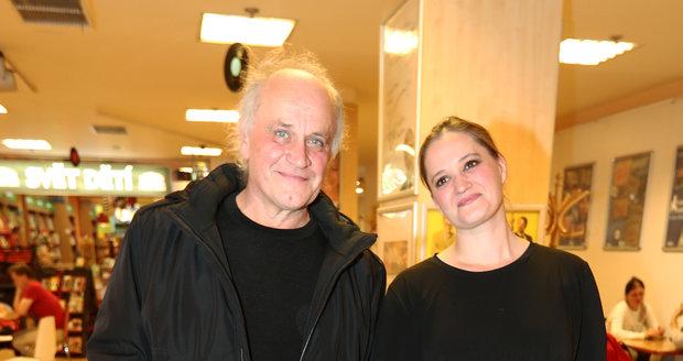 Michael Kocáb s dcerou