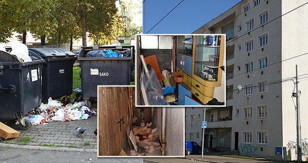 Virvál a mejdan každou noc: Šest partají terorizuje činžák v Brně! Stal se z něj dům hrůzy