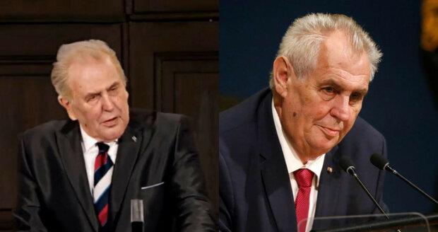 """Zeman chválil novináře a opíral se o pultík, pak to """"prasklo"""". Experti: Bude hůř"""