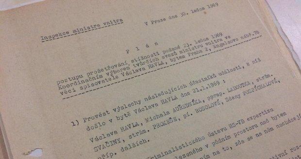 Archiv bezpečnostních složek představil 17. listopadu 2019 dokumenty vztahující se k osobnosti Václava Havla.