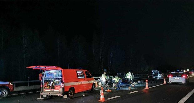 Vážná nehoda na D5, 17. listopadu 2019.