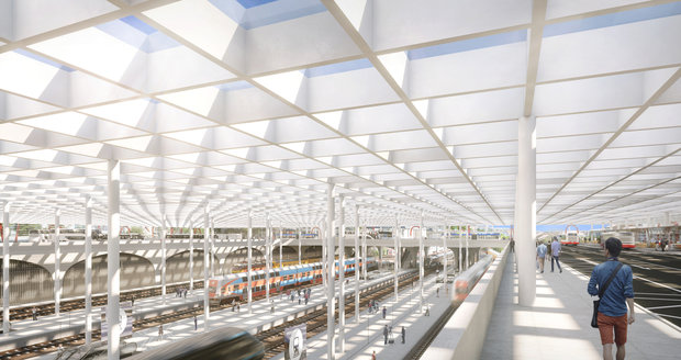 Takto podle vizualizací bude nejmodernější a největší dopravní terminál v Praze vypadat.