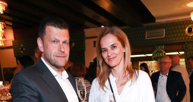 Moderátorka ČT Světlana Witowská s manželem Petrem