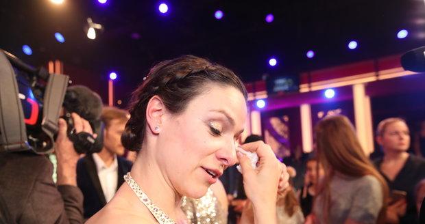Veronika Khek Kubařová se neubránila emocím.