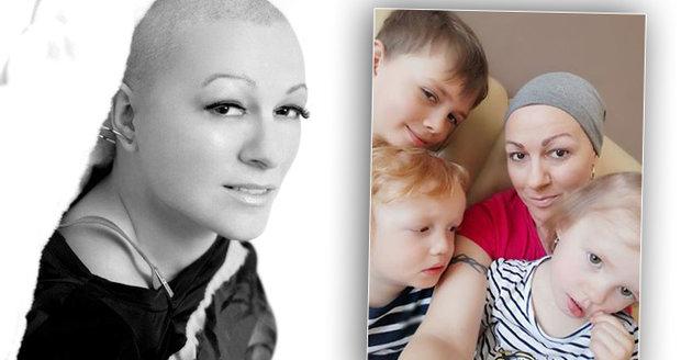 Paní Petra je máma tří malých dětí a s rakovinou bojuje už podruhé..