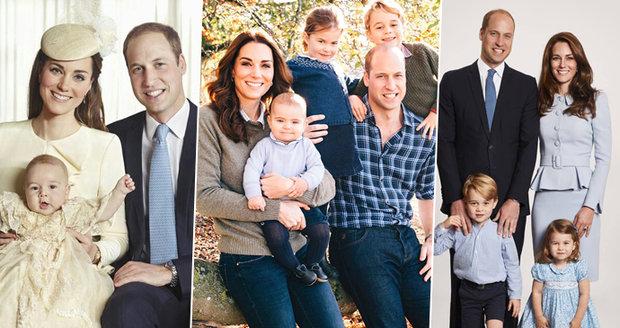 Drobné detaily prozradily vše! Co odhalila vánoční přání podle Willa a Kate?