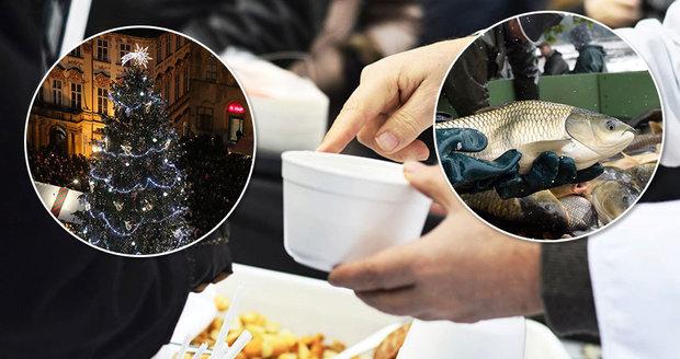V úterý 24. prosince Češi neváhali vystát si i půlhodinovou frontu na rybí polévku na Václavském náměstí. Rozlévala se ale i jinde po Praze. (ilustrační foto)