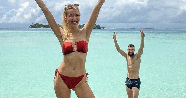 Jitka Nováčková na Maledivách