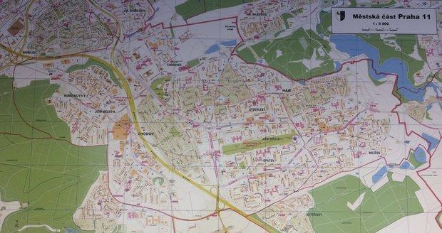 Mapa Jižního Města