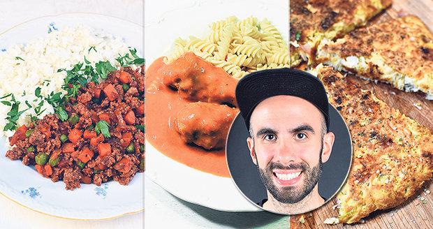 Nové recepty autora populárních kuchařek Břicháče Toma.