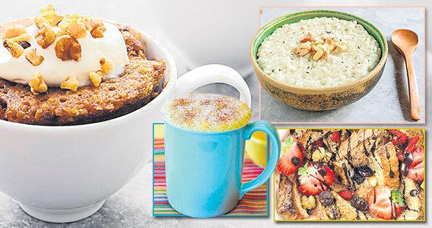 Uvařte si zimní snídani do hrnečku či misky.