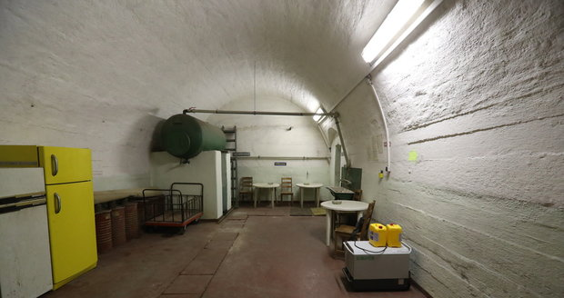 This is how it looks in the anti-nuclear civil protection shelter in the Vítkov Hill.