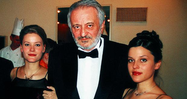 Milan Lasica s dcerami
